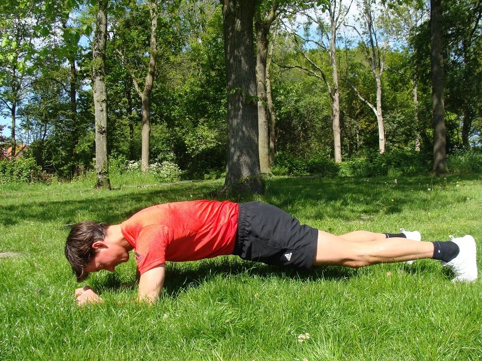 Personal trainer Haarlem - HS plank