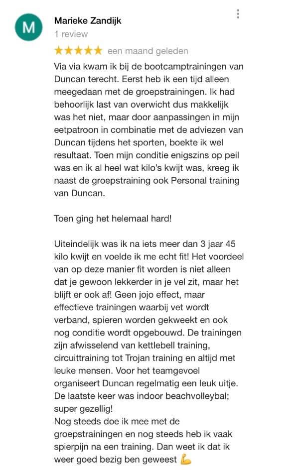 Personal trainer Haarlem - Marieke