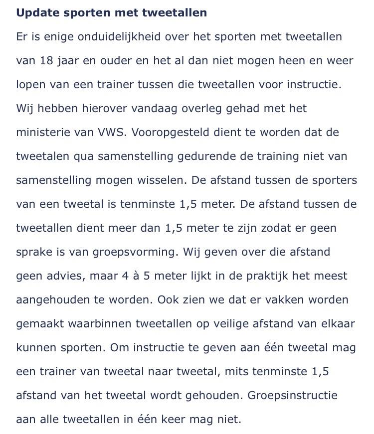 Buiten sporten tijdens corona - BuitenFit Haarlem update buiten sporten