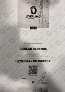 Powersled certificaat