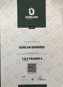 TOP TRAINER A Overload Wordwide diploma